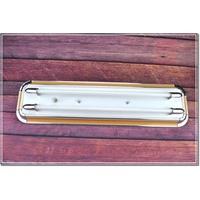 T5 專用 藝術日光燈 原木質感2尺 4尺 雙管 燈座 空台 附三段電子IC小夜燈 附T5燈管   (台中代客安裝服務)
