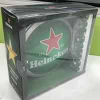 海尼根 招牌LED圓燈 usb充電式 磁鐵吸附 3組入