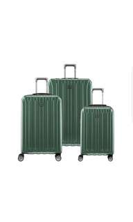 """Delsey Luggage Helium Titanium 3 Piece Suitcase Luggage Set  21""""25"""" 29"""" Inch Hunter Green Only"""