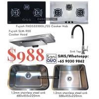 Fujioh Cooker Hood & Hob c/w Kitchen Sink & Tap 3