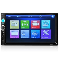 7010B 7 Inch Bluetooth V2.0 Car Audio Stereo Touch Screen MP5 Player Support AUX TF USB FM Radio