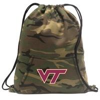 Virginia Tech Hokies Drawstring Bag Camo Virginia Tech Hokies Backpack Cinch Pack for Boys Girls Men