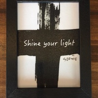 Shine your light 經典黑色厚框(5×7)掛畫/複製畫/藝術品/圖畫/相框 基督教禮品 蘇妃小鋪