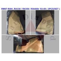 LEXUS RX II RX330/RX350/RX400h 03-09橡膠防水腳踏墊 腳墊~加購後廂防水托盤