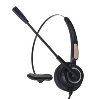3PCS Office Call Center Headset With Mic Noise-Canceling Stereo Headphone RJ9 plug Black - intl