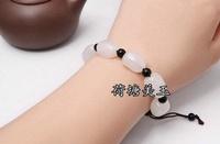 Xinjiang and farmland jade seed anticipate an original skin hand of original seed of Men's Fashion Bracelet - intl