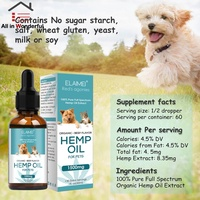 1500Mg 30ML ELAIMEI Hemp Seed Oil for Pet Dogs Stress Relief