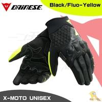 任我行騎士部品 DAINESE X-MOTO UNISEX 夏季 通風 觸控 短手套 防摔 丹尼斯 黑黃 XMOTO