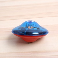 Banggood Colorful Standing UFO Drift Flashlight Music GYRO Spinning Top With Opening Key