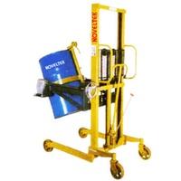 手動油桶/鐵桶/塑膠筒夾具可翻轉堆高機/升降機/洩料機/傾倒機MOTR-03/1400,載重300Kg,揚高1400mm