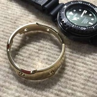 Polished Yellow Gold Aftermarket Shroud For Seiko Emperor Tuna MarineMaster