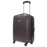 Jetstream 20 Inch Lightweight Hardside Carry On Spinner Suitcase (Charcoal)