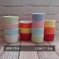 【Daylight】現貨-圆形陶瓷180cc布丁杯烤皿/烤杯/陶瓷杯/烤盅/烤布丁杯/烤碗/舒芙蕾