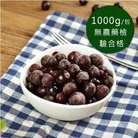 (任選880)幸美生技-冷凍野生藍莓(1000g/包)