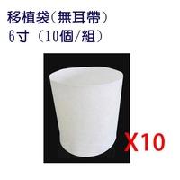 【蔬菜工坊005-A38-06.1】移植袋.美植袋6寸-10入/組(無耳帶)