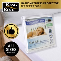 KING KOIL PROTECT-A-BED COLLECTION BASIC WATERPROOF MATTRESS PROTECTOR - FITTED