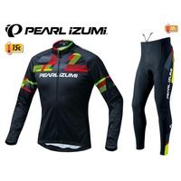 免運新到貨2018冬季新品PEARL iZUMi PI-3455+PI-997-3D 1號特別版男用保暖刷毛長車衣+車褲