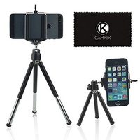 CamKix Tripod Kit - Universal Adjustable Including Tripod/Universal Phone Holder/Velvet Phone Bag/Mi