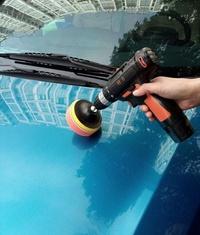 充電式打蠟機 無線汽車拋光機打蠟機充電式電動打磨封釉機地板家具劃痕修復工具 JD 傾城小鋪