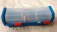 神奇寶貝tretta正版 二手長型卡匣收納盒 稀有藍色版 可放30枚卡