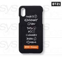 BTS BT21 Official Authentic Goods Fennec Lettering iPhone Case