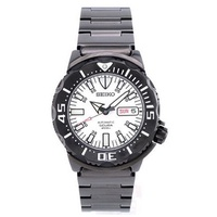 SZEN006 Seiko White Night Monster Automatic White Dial Day Date Male Scuba Divers Watch