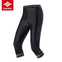SANTIC MORTRA - 灰度 - 自行車車褲 高彈高透 七分褲  魚網紋布 × 4D高密度矽膠護墊