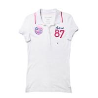 【現貨Aeropostale】AERO87夏威夷短袖POLO衫(白色)