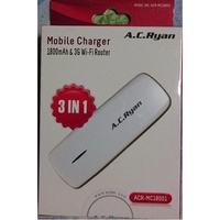 Brand New AC Ryan 3G WIFI Router 1800mah Powerbank. 3-in-1. ACR-MC18001. Local SG Stock and warranty