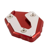 New Motorcycle Accessories Aluminum Kickstand Enlarger Plate Side Stand Widening Base for Yamaha MT09 2014-2018 for XSR900 2016-2018 (Red)