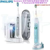 【超值組合 牙齦護理機+潔白機】PHILIPS 飛利浦超效牙齦白金護理音波震動電動牙刷+音波潔白電動牙刷 HX9172/19+HX6711