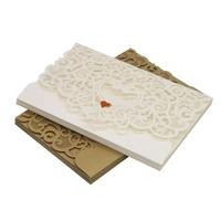 10套婚禮邀請卡與信封密封心貼紙空白卡