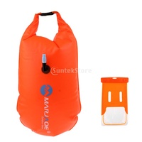 Highly Visible Swim Buoy Snorkeling Swimming Tow Float Drybag and Waterproof Phone Case for Open Wat