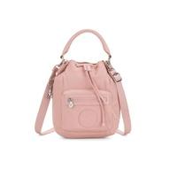 全新kipling粉色多用途水桶手提側背包