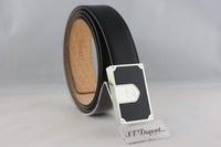 S.T. Dupont  都彭 黑中國漆箱型釘扣皮帶