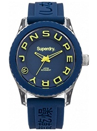 (Superdry) Superdry  Tokyo  Quartz Plastic and Silicone Dress Watch, Color:Blue (Model: SYL146U)-...