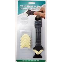台灣製 orix PW137 矽利康抹刀、刮刀、邊刀三合一工具。專業silicone 矽力康抹平工具。