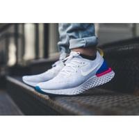 Nike Epic React 白彩紅 輕量 男女 AQ0067-400 白 慢跑 編織