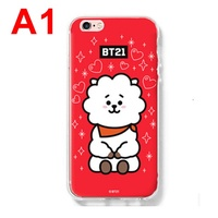 BTS Bt21 Bullet Proof Youth League Apple iPhone 6 / 6S / 7 / 8 Plus Soft Silicone Casing Back Cover