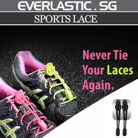 Everlastic sports lace / lock laces / shoe lace / shoelace / running lace / athletic shoes / athlete