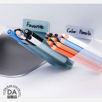 電腦螢幕黏貼式 收納盒 筆筒 黏貼收納盒 置物盒 文具收納盒 桌面收納 收納架 顏色隨機(V50-1168)