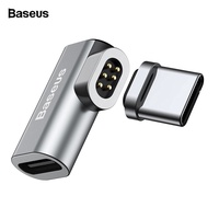 Baseus Type C To Type-C Magnetic Elbow Adapter For Macbook Nexus OnePlus 2 3 Fast Charging Magnet USB-C Cable Adapter