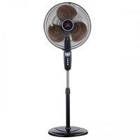 "EuropAce Stand Fan with Timer (16"") Black"