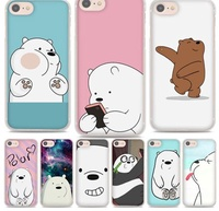 We Bare Ice Bear Panda style hard clear Phone Cases Cover for Apple iPhone [Free Delivery]