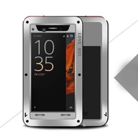 Flash Deal LOVE MEI Metal Case Shockproof Gorilla Glass For OPPO R11 Plus R11S R9 R15