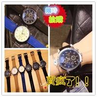 【實拍】Montblanc 萬寶龍 新款男士休閒手錶 三眼計時錶 石英手錶