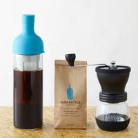 日本BLUE BOTTLE 藍瓶咖啡/冷萃瓶/HARIO陶瓷手搖磨豆機/咖啡豆組 (非禮盒式包裝)/ s009。1色。(8640*1.5)日本必買 日本樂天代購