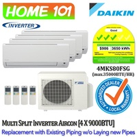 Daikin Multi Split Series Aircon [System 4] Avaliable in 4MKS80FSG WITH *Replacement Services*