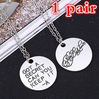 Pretty Little Liars Necklace Got A Secret Can You Keep It Silver Pendant (Size: 8)