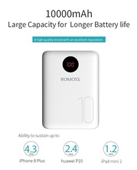 Romoss OM10 Power Bank 10000mAh Faster Charger PowerBank